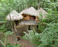 location cabane dans les arbres robin des bois les cabanes de fontaine ch tel. Black Bedroom Furniture Sets. Home Design Ideas